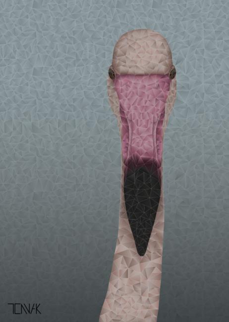 No. 3002 - Flamingo, TENNA KRAMER DESIGN