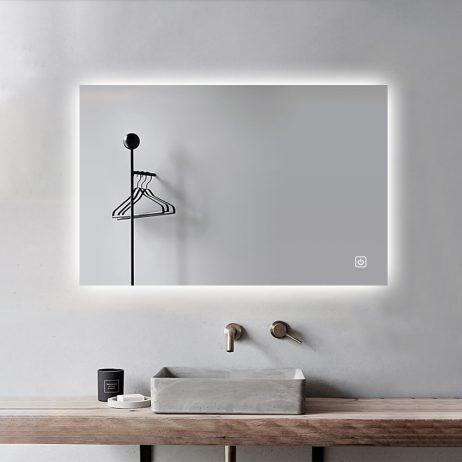 Premium Backlight badeværelses spejl, LED, Antidug og Touchsensor