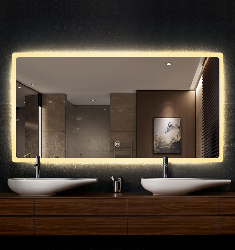 Premium LED badeværelse spejl med Antidug og Touchsensor
