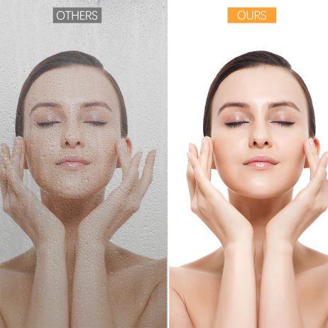 Premium badeværelses spejl med LED, Antidug, Touchsensor, Bluetooth højtaler og Makeupp spejl