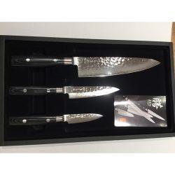 Yaxell Zen damascus VG10 sæt 3 knive