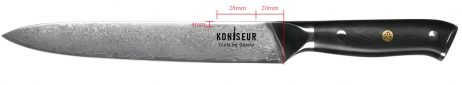 Forskærekniv 20 cm. 67 lag Damascus stål - KONISEUR - Tools By Gastro
