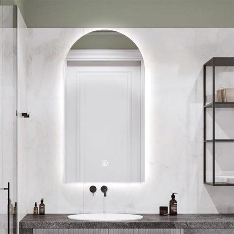 Premium spejl Kajsa med LED lys - Flere størrelser