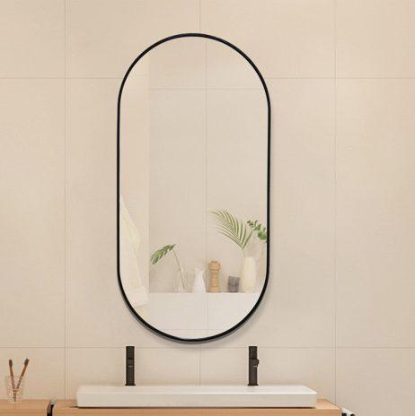 Premium spejl Yrsa  med  Sort alu ramme - Flere størrelser