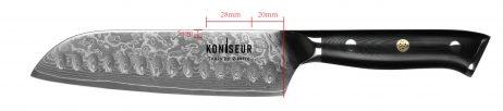 Santoku 16,5 cm. 67 lag Damascus stål - KONISEUR - Tools By Gastro