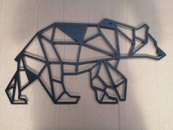 Bjørn dekorativ i sort pulverlarkeret stål