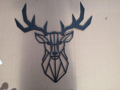 Hjort dekorativ i sort pulverlarkeret stål