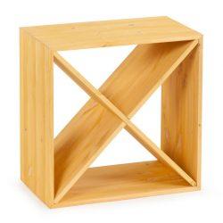Cube vinhylde i fyrretræ, i farven lys Eg, plads til 24 flasker fra Gastro De Luxe