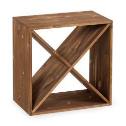 Cube vinhylde i fyrretræ, i farven mørk Eg, plads til 24 flasker fra Gastro De Luxe