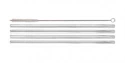 Genanvendelige sugerør - Stål - 4 stk - 24cm