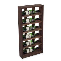 Scallops vinhylde i fyrretræ, i farven mørk Eg, plads til 6 flasker fra Gastro De Luxe