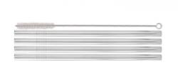 Genanvendelige sugerør til smoothie - Stål - 4 stk - 24cm